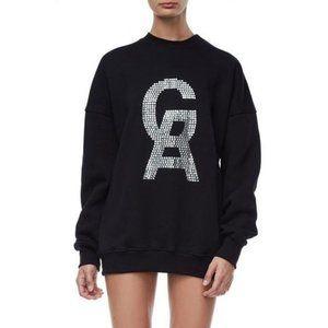 Good American The Icon Crystal Sweatshirt
